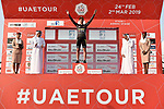 Primoz Roglic (SLO) and Team Jumbo-Visma win Stage 1 of the 2019 UAE Tour, a team time trial running 16km around Al Hudayriat Island, Abu Dhabi, United Arab Emirates. 24th February 2019.<br /> Picture: LaPresse/Fabio Ferrari | Cyclefile<br /> <br /> <br /> All photos usage must carry mandatory copyright credit (© Cyclefile | LaPresse/MFabio Ferrari)