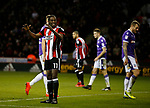 Clayton Donaldson of Sheffield Utd reacts after a missed chance during the Championship match at Bramall Lane Stadium, Sheffield. Picture date 30th December 2017. Picture credit should read: Simon Bellis/Sportimage