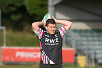 Ed Shervington during Ospreys rugby training at Llandarcy Institute of Sport near Neath aheah of their Heineken Cup match with Clermont Auvergne on Sunday..