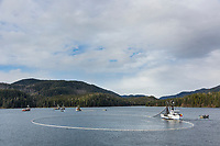 Commercial fishing during the Sitka sac roe herring fishery, Sitka Sound, southeast, Alaska
