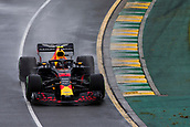 24th March 2018, Melbourne Grand Prix Circuit, Melbourne, Australia; Melbourne Formula One Grand Prix, qualifying; The number 33 Aston Martin Red Bull driven by Max Verstappen