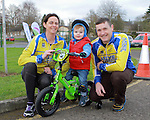 Linda, Ollie and Eamon Martin at the Operation Transformation 10km cycle from Ardee Parish Centre.