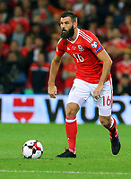 Joe Ledley of Wales in action during the FIFA World Cup Qualifier Group D match between Wales and Republic of Ireland at The Cardiff City Stadium, Wales, UK. Monday 09 October 2017