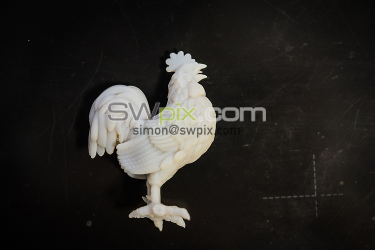 SWPix - RLWC2021 have commissioned for a Cockerel to be manufactured by famous Trophy makers Fattorini's, which will be placed back on the tournament Trophy... Pictures taken on 25th September 2018, at Thomas Fattorini Ltd, Regent St, Birmingham COPYRIGHT PICTURE SWpix.com Picture by Will Johnston/SWpix.com - Project Cockerel Rugby League World Cup Trophy Fattorini, Birmingham