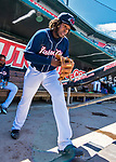 31 May 2018: New Hampshire Fisher Cats third baseman Vladimir Guerrero Jr. takes the field during a game against the Portland Sea Dogs at Northeast Delta Dental Stadium in Manchester, NH. The Sea Dogs defeated the Fisher Cats 12-9 in extra innings. Mandatory Credit: Ed Wolfstein Photo *** RAW (NEF) Image File Available ***