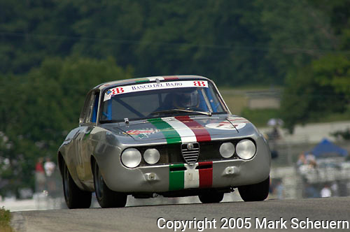 Bernardo Martinez races his 1969 Alfa Romeo Giulia at The Brian Redman International Challenge at Road America, 2005.