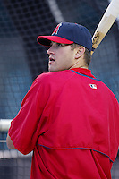 Troy Glaus of the Los Angeles Angels before a 2002 MLB season game at Angel Stadium, in Anaheim, California. (Larry Goren/Four Seam Images)