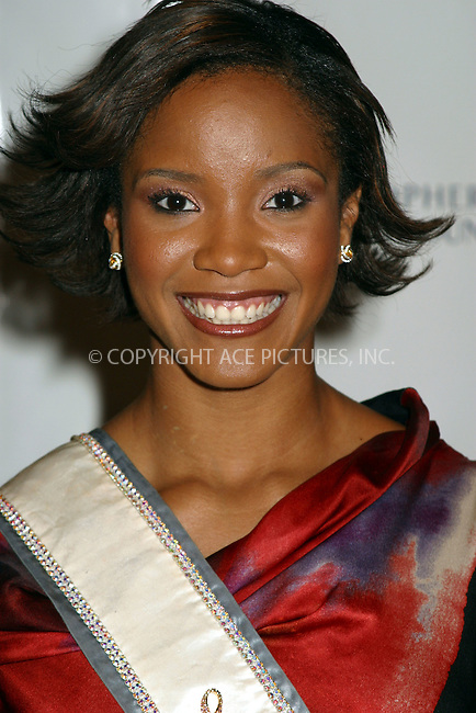 12th Annual Magical Birthday Bash to benefit the Christopher Reeve Paralysis Foundation at the Marriott Marquis. Pictured is: Miss USA 2002 Shauntay Hinton. New York, September 25, 2002. Please byline: Alecsey Boldeskul/NY Photo Press.   ..*PAY-PER-USE*      ....NY Photo Press:  ..phone (646) 267-6913;   ..e-mail: info@nyphotopress.com