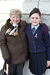 Chloe Condron with her nana, Mary Condron at the Ballymakenny NS Confirmation...Photo NEWSFILE/Jenny Matthews.(Photo credit should read Jenny Matthews/NEWSFILE)....This Picture has been sent you under the condtions enclosed by:.Newsfile Ltd..The Studio,.Millmount Abbey,.Drogheda,.Co Meath..Ireland..Tel: +353(0)41-9871240.Fax: +353(0)41-9871260.GSM: +353(0)86-2500958.email: pictures@newsfile.ie.www.newsfile.ie.FTP: 193.120.102.198.