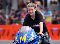 Sarah Humphrey (Palmerston North), Suzuki Gixxer Cup. The 2018 Suzuki series Cemetery Circuit motorcycle racing at Cooks Gardens in Wanganui, New Zealand on Wednesday, 28 December 2018. Photo: Dave Lintott / lintottphoto.co.nz