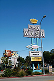 USA, Los Angeles, an old car wash sign near Abbot Kinney Boulevard
