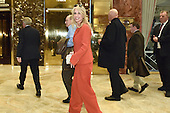Kellyanne Conway, campaign manager and strategist, is seen in the lobby of the Trump Tower in New York, New York, on November 28, 2016. <br /> Credit: Anthony Behar / Pool via CNP