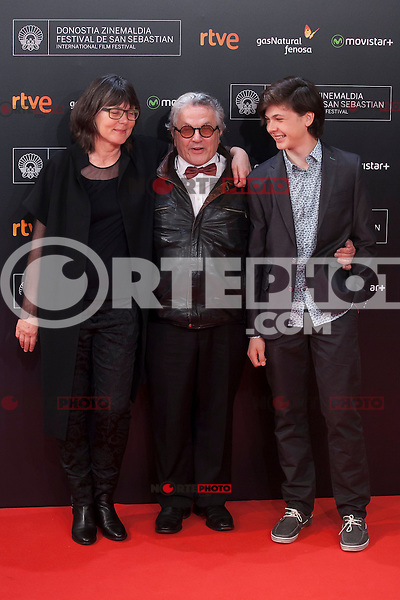 Movie director George Miller poses before 63rd Donostia Zinemaldia opening ceremony (San Sebastian International Film Festival) in San Sebastian, Spain. September 18, 2015. (ALTERPHOTOS/Victor Blanco) /NortePhoto.com
