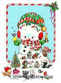 GIORDANO, CHRISTMAS ANIMALS, WEIHNACHTEN TIERE, NAVIDAD ANIMALES, paintings+++++,USGI1415,#XA#