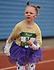 Elaina Borowski, 6, of Bethpage legs out the final stretch of the 2016 Long Island Marathon Weekend's 1 mile race inside Mitchel Athletic Complex on Saturday, Apr. 30, 2016.