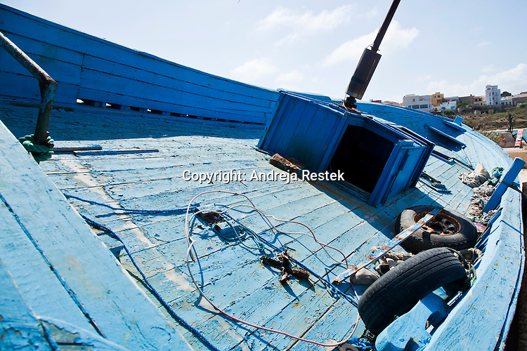 Lampedusa, cemetery of boats used by immigrants to reach Europe accross the sea