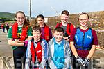Emily Ní Ghearailt, Georga Massette, Seamus O Barióid, Ellie Power Farrell, Paudie Mac Gearailt and Dylan O'Connor at the Brandon Regatta last Sunday.