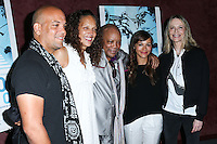LOS ANGELES, CA, USA - SEPTEMBER 17: Quincy Jones Jr., Jolie Jones Levine, Quincy Jones, Rashida Jones, Peggy Lipton arrive at the Los Angeles Premiere Of RADiUS-TWC's 'Keep On Keepin' On' held at the Landmark Theatre on September 17, 2014 in Los Angeles, California, United States. (Photo by Xavier Collin/Celebrity Monitor)