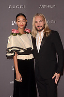 LOS ANGELES, CA - NOVEMBER 04: Zoe Saldana, Marco Perego at the 2017 LACMA Art + Film Gala Honoring Mark Bradford And George Lucas at LACMA on November 4, 2017 in Los Angeles, California. Credit: David Edwards/MediaPunch /NortePhoto.com
