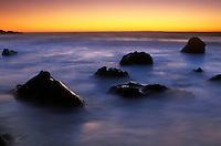 Sunset along the Coast of Big Sur, California.