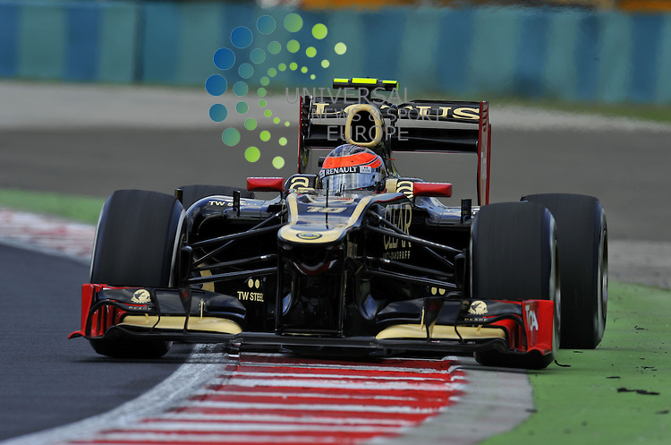 Formula 1 Race 11, GP of Hungary, Budapest - 27.-29. Juli 2012.Romain Grosjean (FRA) Lotus Renault F1 Team ..Picture :Hasan Bratic/Universal News And Sport (Europe) 27 July 2012