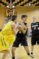 2012 FIBA Oceania Men's U19 Championship match between NZ Junior Tall Blacks and Australian Emus at Te Rauparaha Arena, Porirua, Wellington, New Zealand on Thursday 20 September 2012.<br /> Photo by Masanori Udagawa<br /> www.photowellington.com