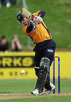 Wellington captain Matthew Bell bats during the State Shield cricket match between the Wellington Firebirds and Central Stags at Allied Prime Basin Reserve, Wellington, New Zealand on Sunday, 11 January 2009. Photo: Dave Lintott / lintottphoto.co.nz