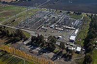 aerial photograph Pacific Gas & Electric substation Petaluma, Sonoma county, California