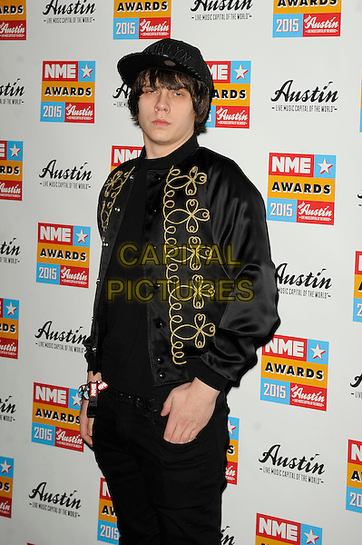 LONDON, ENGLAND - FEBRUARY 18: Jake Bugg attending the NME Awards at Brixton Academy on February 18 2015 in London, England.<br /> CAP/MAR<br /> &copy; Martin Harris/Capital Pictures