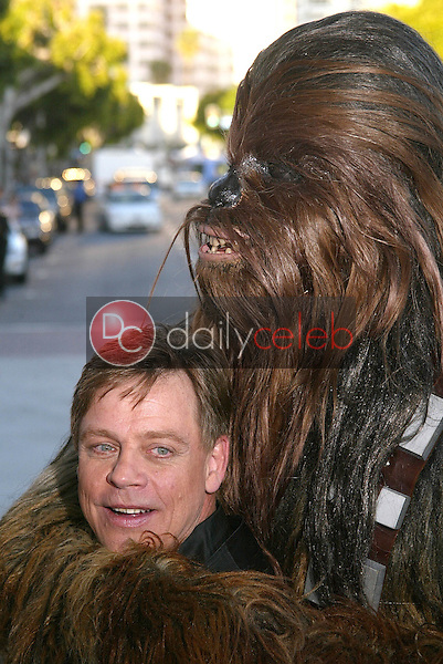 """Mark Hamill and Chewbacca<br /> at the """"Star Wars: Revenge Of The Sith"""" Los Angeles Premiere, Mann Village, Westwod, CA 05-12-05<br /> David Edwards/DailyCeleb.Com 818-249-4998"""