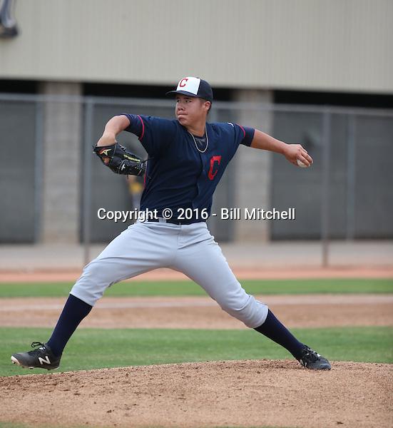 Luis Lugo - Cleveland Indians 2016 spring training (Bill Mitchell)