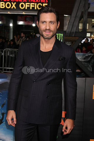 """HOLLYWOOD, CA - DECEMBER 15: Edgar Ramirez at the """"Point Break"""" Premiere at the TCL Chinese Theater in Hollywood, California on December 15, 2015. Credit: David Edwards/MediaPunch"""