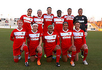 BOYDS, MD - March 22, 2014: Washington Spirit vs. University of North Carolina in a NWSL pre season match at Maryland Soccerplex, in Boyds, MD. Washington Spirit won 2-0.