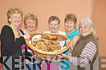 PIES: The Camp Ladies who got the lunches ready for the attendence at the Camp Fair on Friday in aid of the kerry Hospice Foundation. l-r: Hazel Evans, Peggy Fitzgerald, Geraldine Dennehy, Mary Knightly and Myrna Beardworth..