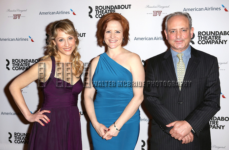 Katya Campbell, Erika Rolfsrud & Mark Zeisler attending the After Party for the Roundabout Theatre Company's Broadway Production of 'The Big Knife' at the American Airlines Theatre in New York City on 4/16/2013...