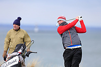Barry Anderson (The Royal Dublin) during the 3rd round of matchplay at the 2018 West of Ireland, in Co Sligo Golf Club, Rosses Point, Sligo, Co Sligo, Ireland. 02/04/2018.<br /> Picture: Golffile | Fran Caffrey<br /> <br /> <br /> All photo usage must carry mandatory copyright credit (&copy; Golffile | Fran Caffrey)