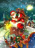 CHRISTMAS SANTA, SNOWMAN, WEIHNACHTSMÄNNER, SCHNEEMÄNNER, PAPÁ NOEL, MUÑECOS DE NIEVE, paintings+++++,KL5429V,#X#