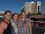 Randy & Tanya Stockdale with car owner Susie Davey from Modesto with a 1931 Ford Pheton during Hot August Nights at the Grand Sierra Resort on Tuesday, August 2, 2016.