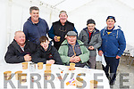 Enjoying a tea break  at the Castleisland Coursing meeting on Monday.<br /> Front l-r, Andrew Sheehy (Ballyduff), Josh Diggins (Causeway) and Michael Allan (Ballyduff).<br /> Back l-r, Niall Diggins (Causeway), Dan O&rsquo;Sullivan (Castleisland), Dan O&rsquo;Donnell (Brosna) and John Downey (Brosna).