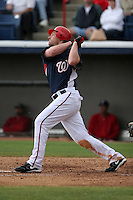 Washington Nationals Austin Kearns during a Grapefruit League Spring Training game at Spacecoast Stadium on March 19, 2007 in Melbourne, Florida.  (Mike Janes/Four Seam Images)