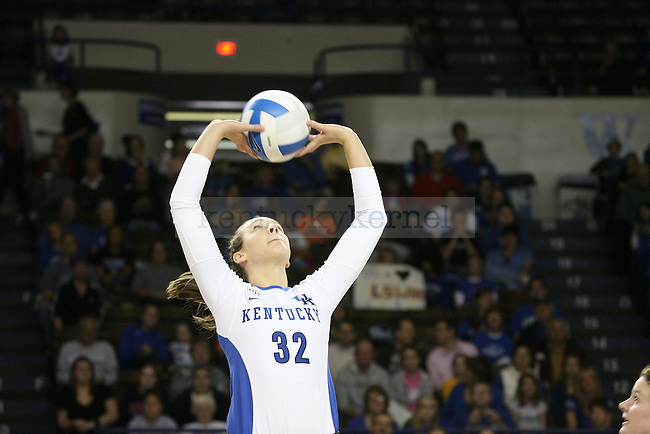 The UK Volleyball team plays LSU at Memorial Coliseum on Sunday, Nov. 14, 2010. Photo by Scott Hannigan | Staff