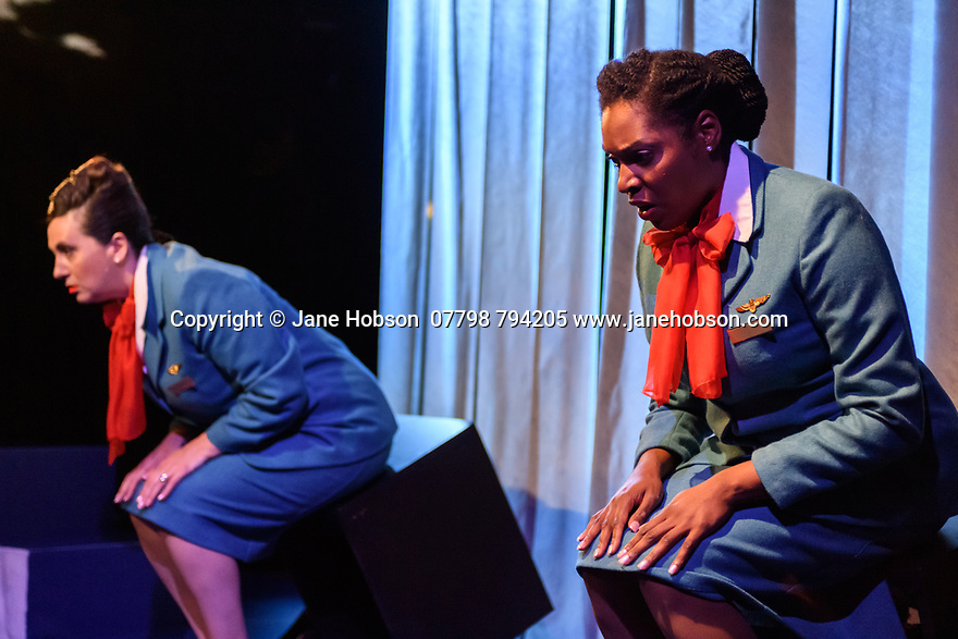 """""""Enough"""", written by Stef Smith and directed by Bryony Shanahan, opens at the Traverse Theatre, as part of the Edinburgh Festival Fringe. Picture shows: Louise Ludgate, Amanda Wright."""
