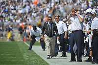 05 September 2009:  Penn State coach Joe Paterno paces the side line.  The Penn State Nittany Lions defeated the Akron Zips 31-7 at Beaver Stadium in State College, PA..