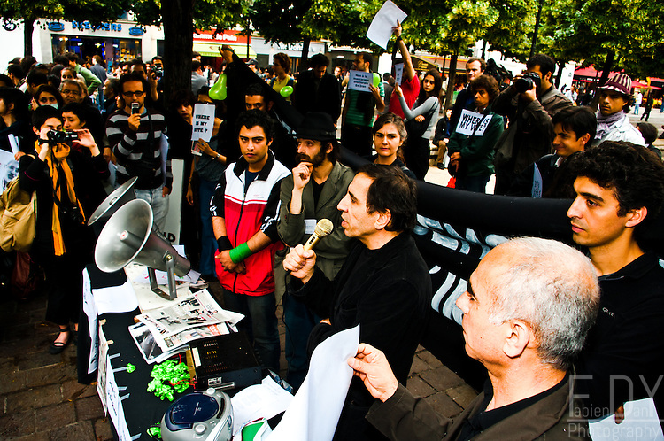 "Images from one of the protests held against the 2009 iranian presidential elections results. This protest was held at ""Place des innocents"" in Paris (France) on june the 15th 2009."