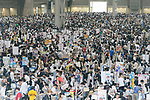 Thousands of visitors attend the first day of Comic Market 92 (Comiket) event at Tokyo Big Sight on August 11, 2017, Tokyo, Japan. The annual event that began in 1975 focuses on manga, anime, game and cosplay. Organizers expect more than 500,000 visitors to attend the 3-day event. (Photo by Rodrigo Reyes Marin/AFLO)