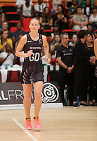 28.01.2017 Silver Ferns Katrina Grant takes to the court during the Silver Ferns v Australian Diamonds netball test match played at the International Convention Centre studium in Durban, South Africa.<br />  Mandatory Photo Credit ©Reg Caldecott/Michael Bradley Photography.