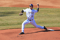 Wisconsin Timber Rattlers pitcher Kodi Medeiros (16) delivers a pitch during a game against the Peoria Chiefs on April 12th, 2015 at Fox Cities Stadium in Appleton, Wisconsin.  Peoria defeated Wisconsin 11-1.  (Brad Krause/Four Seam Images)