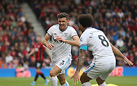 West Ham United's Aaron Cresswell celebrates scoring his side's second goal <br /> <br /> Photographer Rob Newell/CameraSport<br /> <br /> The Premier League - Bournemouth v West Ham United - Saturday 28th September 2019 - Vitality Stadium - Bournemouth<br /> <br /> World Copyright © 2019 CameraSport. All rights reserved. 43 Linden Ave. Countesthorpe. Leicester. England. LE8 5PG - Tel: +44 (0) 116 277 4147 - admin@camerasport.com - www.camerasport.com