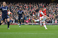 Granit Xhaka of Arsenal FCshoots during Arsenal vs West Ham United, Premier League Football at the Emirates Stadium on 7th March 2020