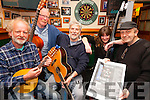 All strings and instruments ready for Cahersiveen's 2nd annual Mountain Roots Music Weekend taking part over the May Bank Holiday Weekend pictured here promoting the event are local musicians l-r; Paul Evans, Dave Marriott, Richie MacCarthy, Celine Kavanagh & Seamus Collins.